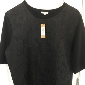 Black shirt with flower pattern